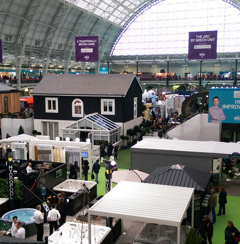 Sun square at Homebuilding and Renovating Show 2018