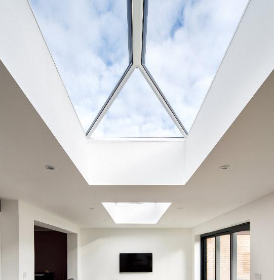 Pyramid Multi-pane roof lantern