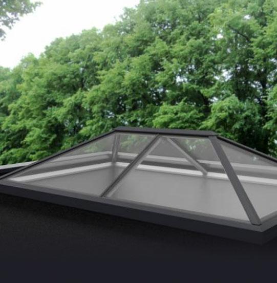 Pyramid Multi-pane roof lantern skylight